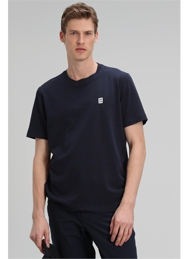 Lufian James Modern Grafik T- Shirt  Lacivert